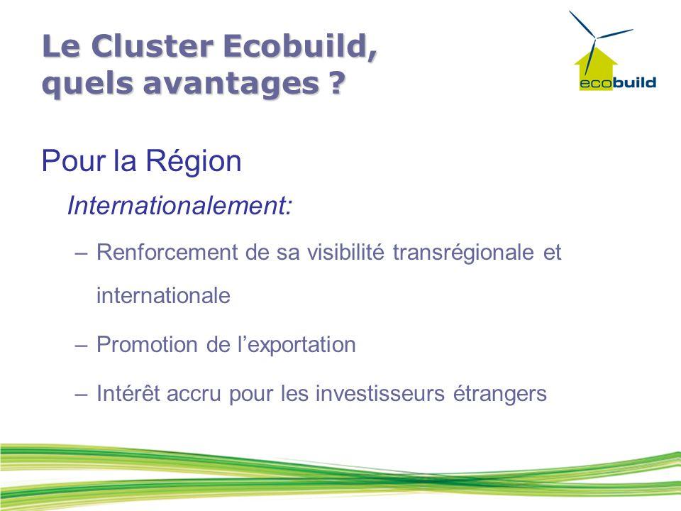 Le Cluster Ecobuild, quels avantages .