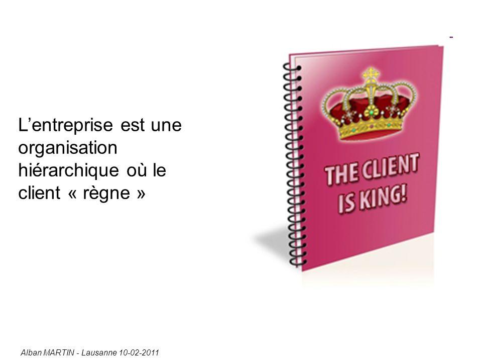 L'entreprise est une organisation hiérarchique où le client « règne » Alban MARTIN - Lausanne 10-02-2011