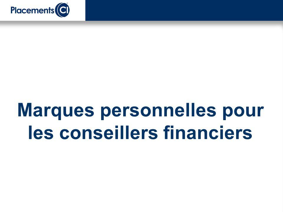 Marques personnelles pour les conseillers financiers