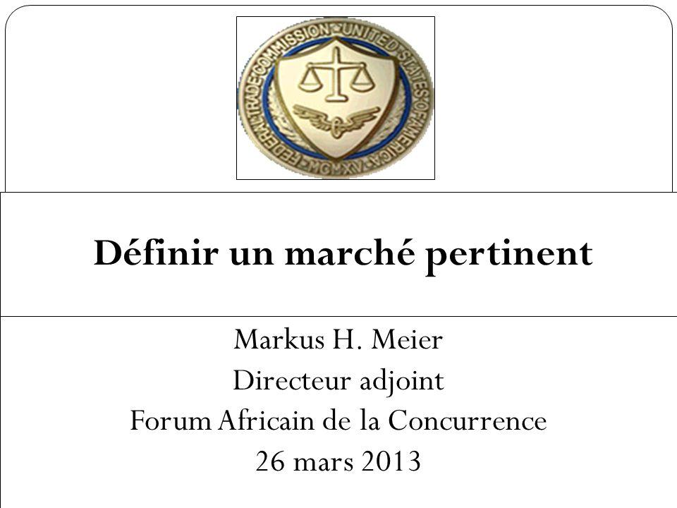 Définir un marché pertinent Markus H.