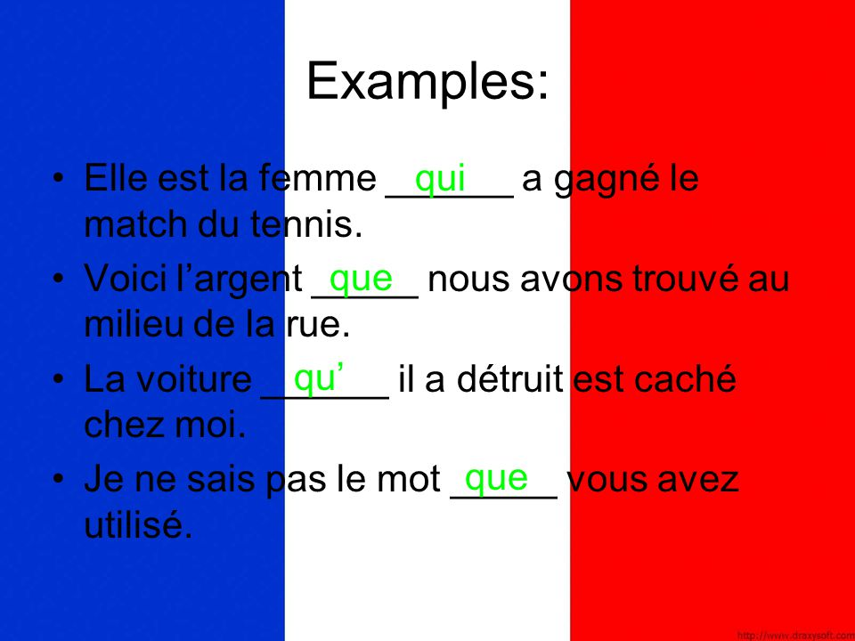 lequel Lequel (which)  the object of a preposition; used principally for things.