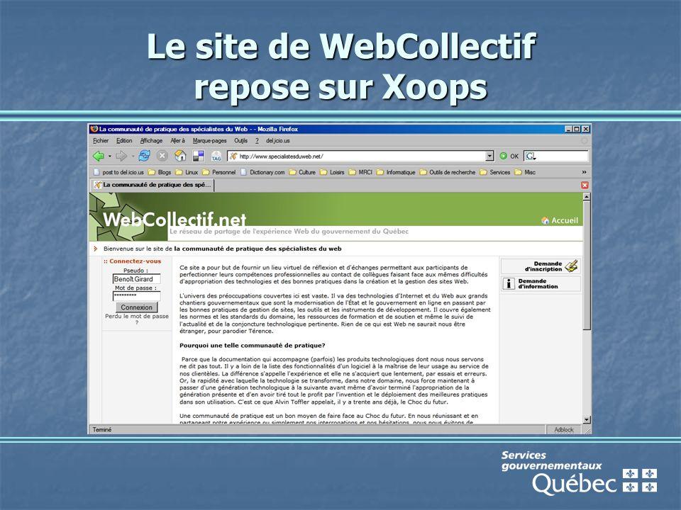 Le site de WebCollectif repose sur Xoops
