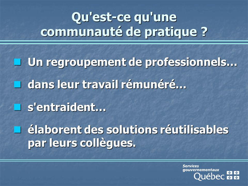 Les communautés envisagées au SSIGRI La consultation en ligne et/ou la cyberdémocratie ; La consultation en ligne et/ou la cyberdémocratie ; Le marketing des services en ligne ; Le marketing des services en ligne ; Le développement des compétences ; Le développement des compétences ; Le droit des technologies de l information ; Le droit des technologies de l information ; La gestion de projet (GP-Québec) ; La gestion de projet (GP-Québec) ; Le logiciel libre ; Le logiciel libre ; La sécurité de l information ; La sécurité de l information ; La pratique professionnelle du Web (WebCollectif).