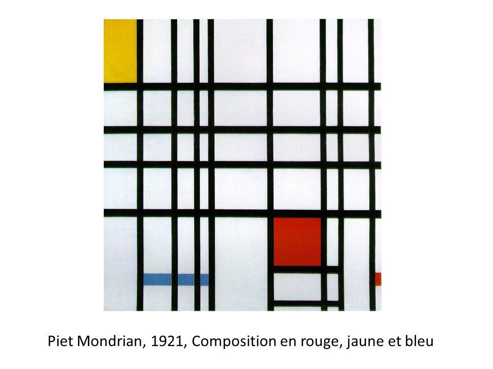 Piet Mondrian, 1921, Composition en rouge, jaune et bleu