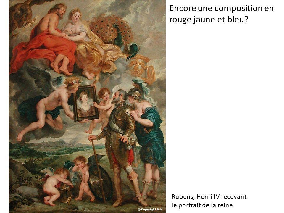 Encore une composition en rouge jaune et bleu Rubens, Henri IV recevant le portrait de la reine