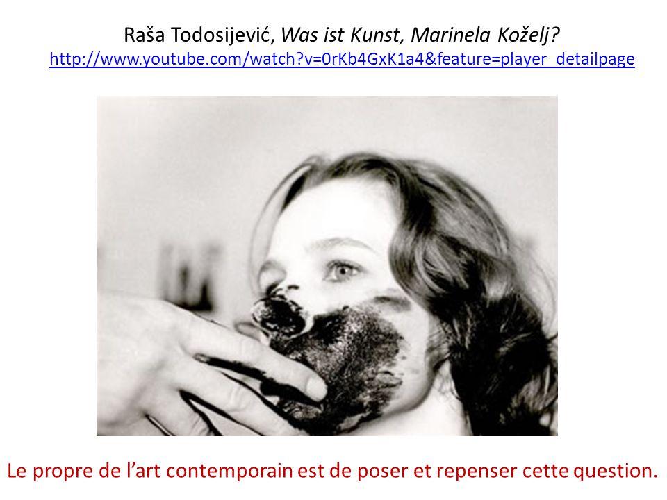 Raša Todosijević, Was ist Kunst, Marinela Koželj.