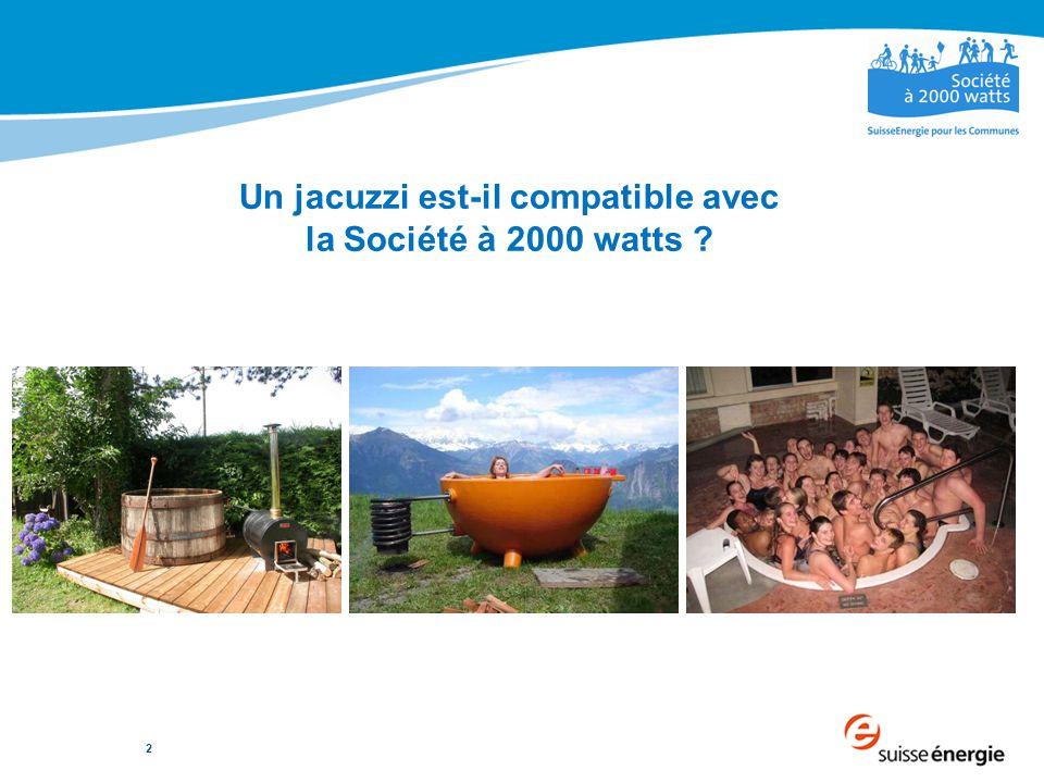 2 Un jacuzzi est-il compatible avec la Société à 2000 watts ?