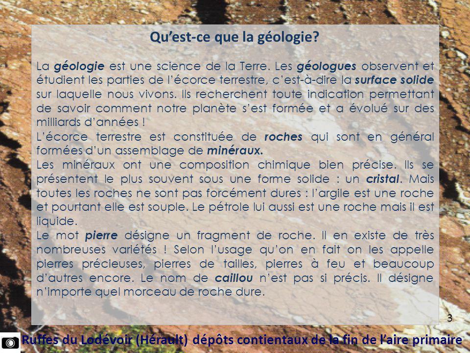 Calcaires lacustres du Miocène inférieur (La Nautique Aude)* En bordure de l étang de Bages et de Sigean affleurent souvent des calcaires lacustres dont le dépôt a précédé l arrivée de la mer miocène, provoquée par l effondrement de la chaîne des Pyrénées.