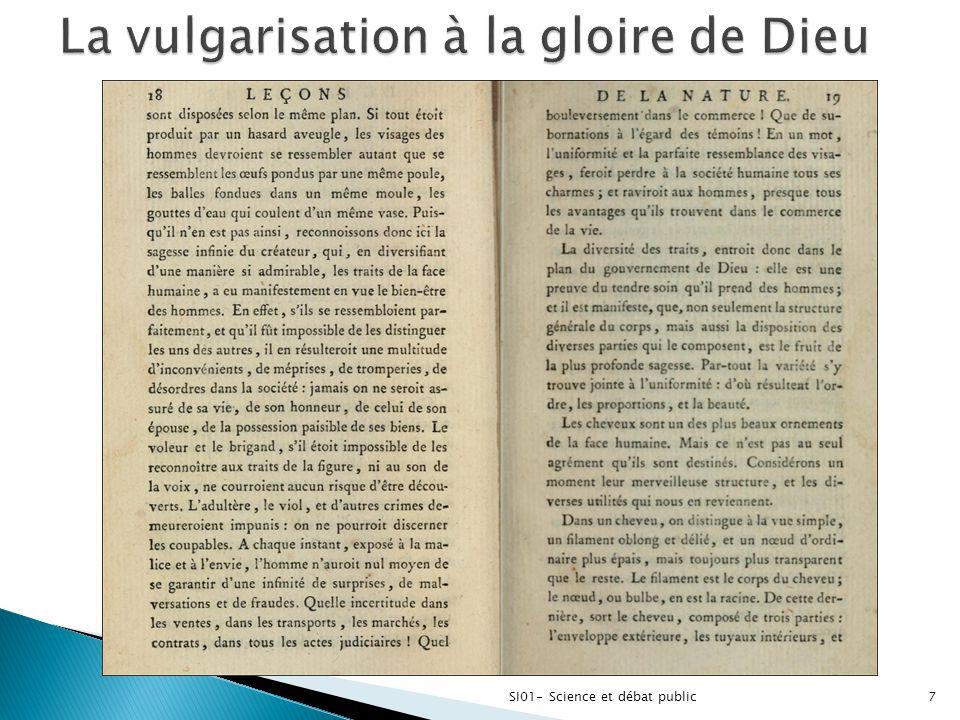  B- Diffuser les résultats du progrès scientifique ◦ A partir du 19e s., discours laïque et progressiste du « parti des lumières ».