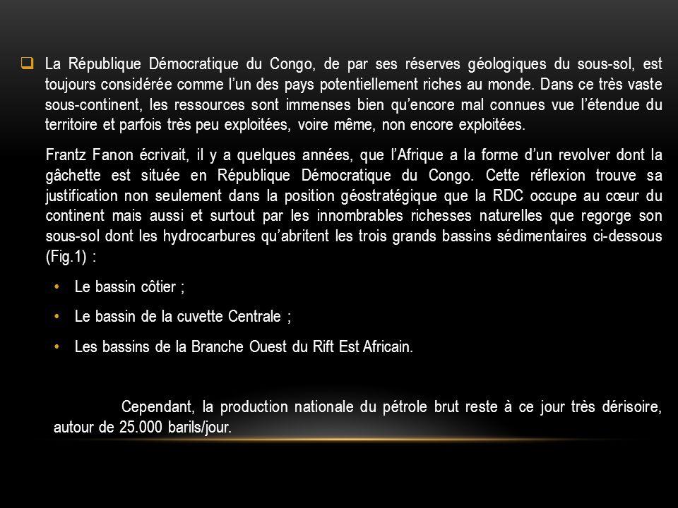  La République Démocratique du Congo, de par ses réserves géologiques du sous-sol, est toujours considérée comme l'un des pays potentiellement riches