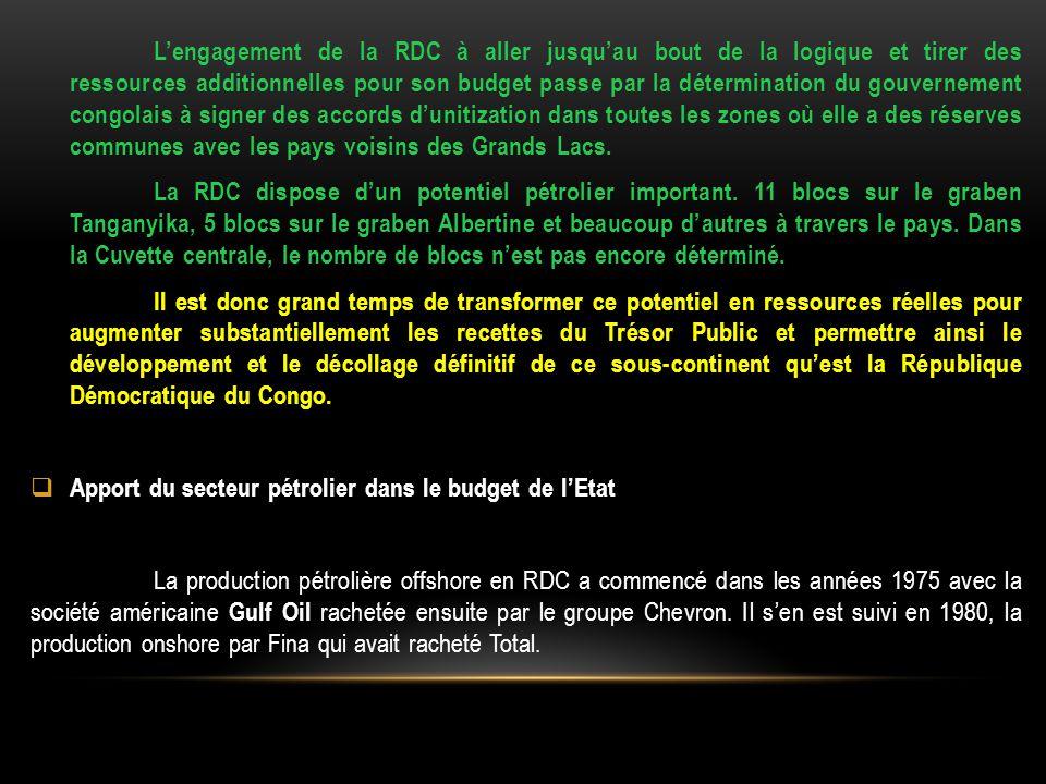 L'engagement de la RDC à aller jusqu'au bout de la logique et tirer des ressources additionnelles pour son budget passe par la détermination du gouver