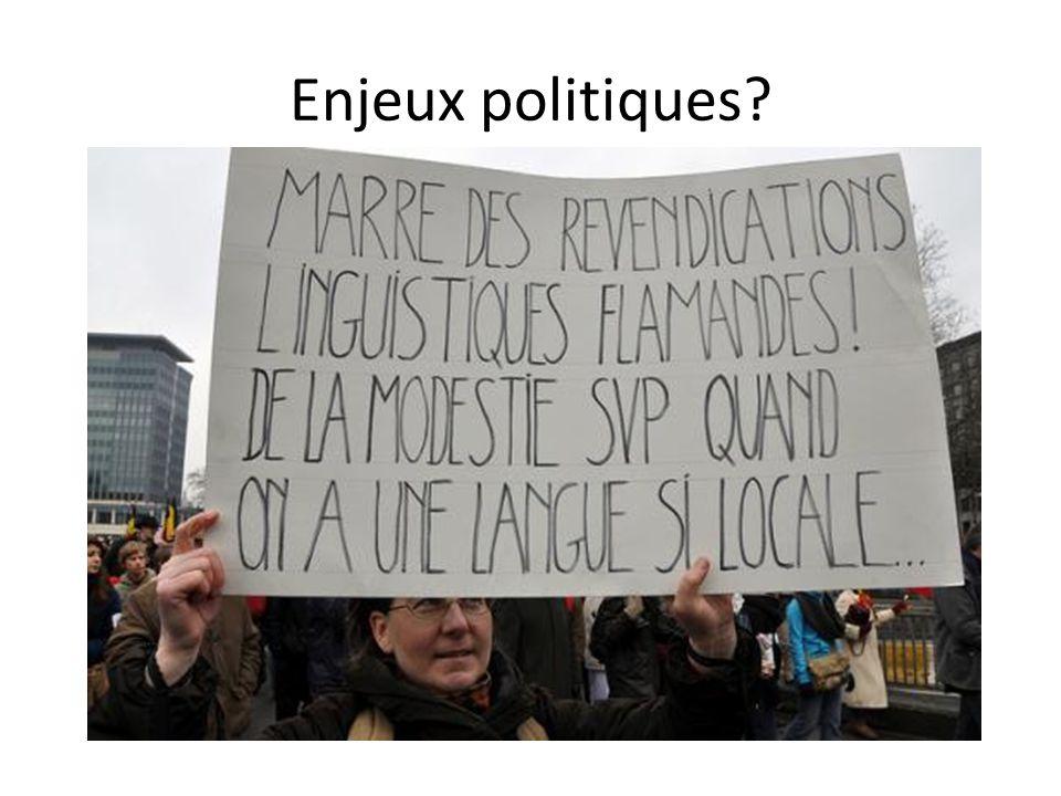 Enjeux politiques?