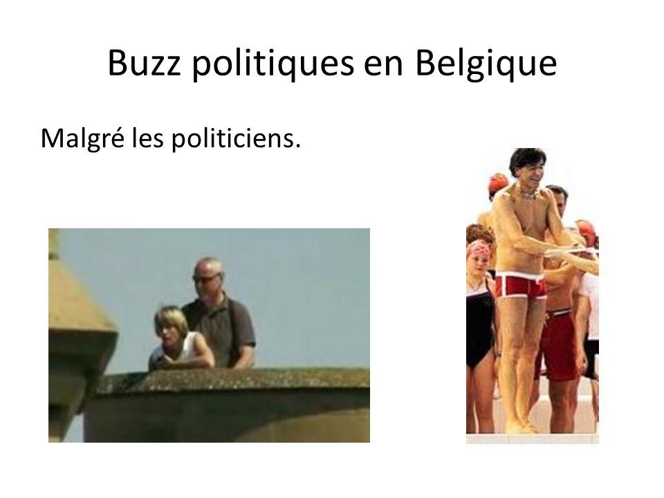 Buzz politiques en Belgique Malgré les politiciens.