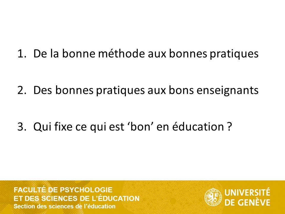 FACULTÉ DE PSYCHOLOGIE ET DES SCIENCES DE L'ÉDUCATION Section des sciences de l'éducation Délibérer sans limites .