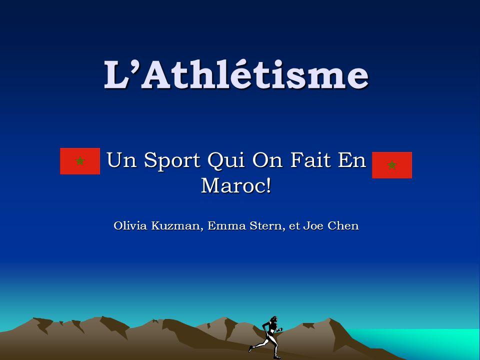 L'Athlétisme Un Sport Qui On Fait En Maroc! Olivia Kuzman, Emma Stern, et Joe Chen