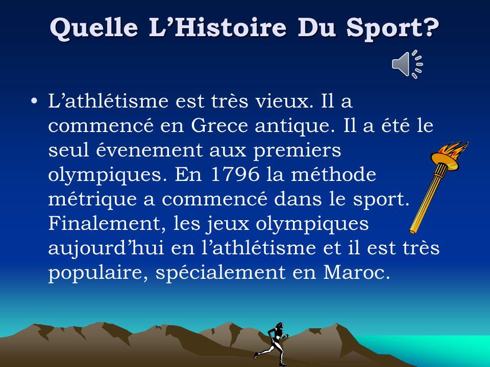 Quelle L'Histoire Du Sport. L'athlétisme est très vieux.