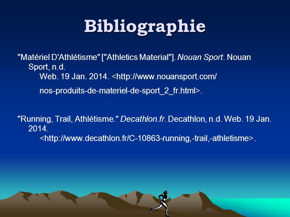 Bibliographie Matériel D Athlétisme [ Athletics Material ].