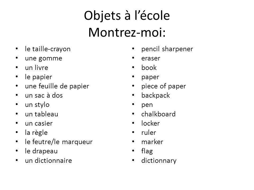 des devoirs (m.) – Je fais mes devoirs.– J'ai beaucoup de devoirs .