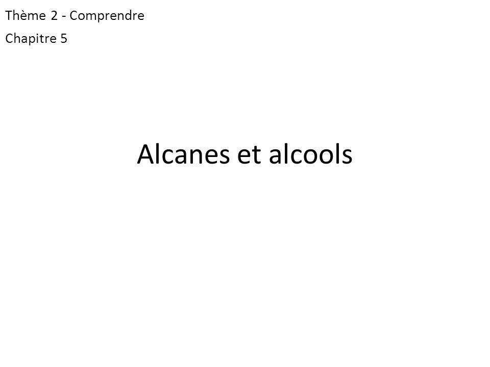 Alcanes et alcools Thème 2 - Comprendre Chapitre 5