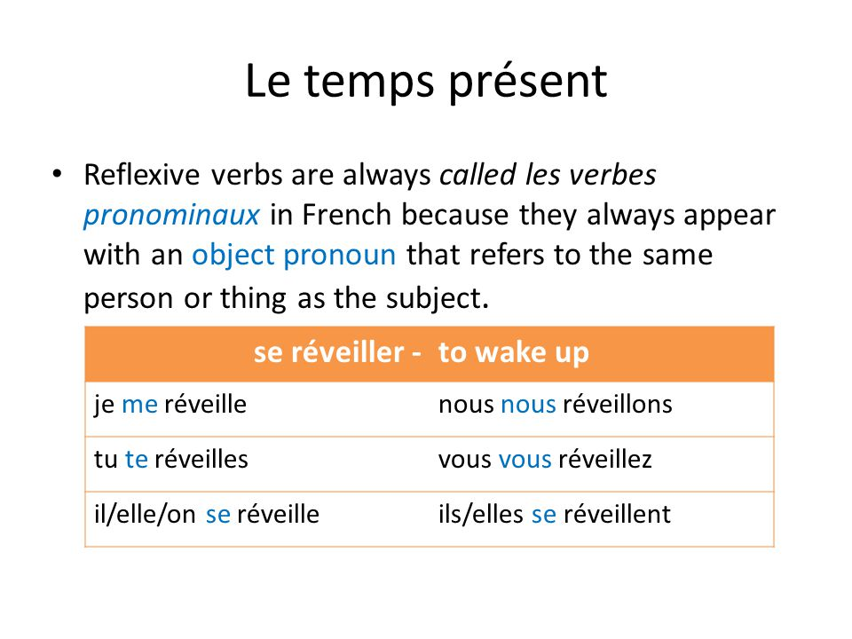 Interrogatif You can also use inversion.The reflexive pronoun remains before the verb.