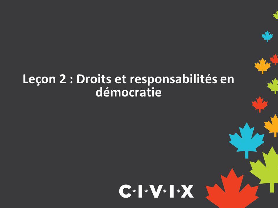 Leçon 2 : Droits et responsabilités en démocratie