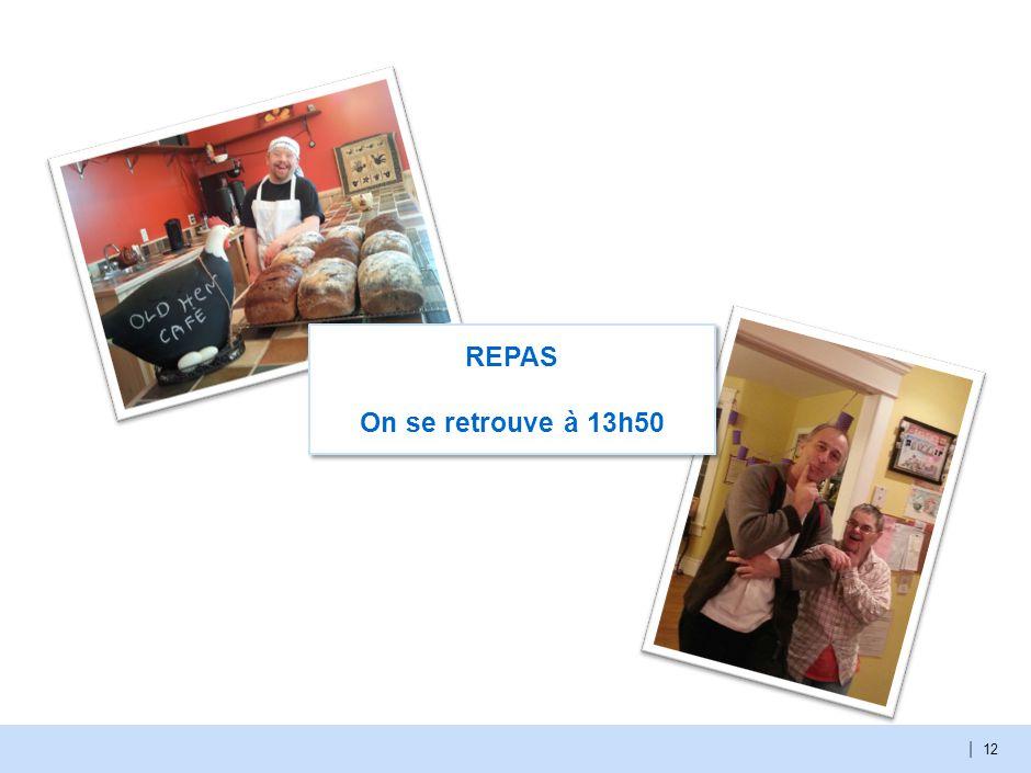 | 12 REPAS On se retrouve à 13h50
