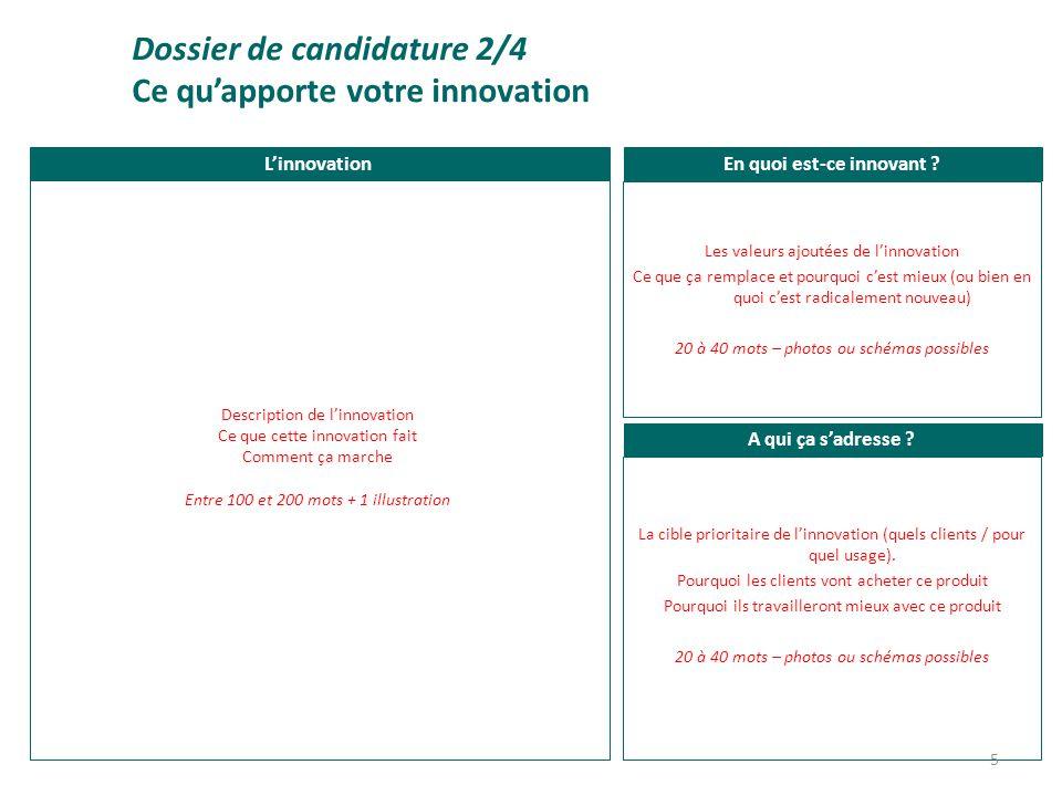 Format libre Dossier de candidature 3/4 Visuels, infographies et compléments 6