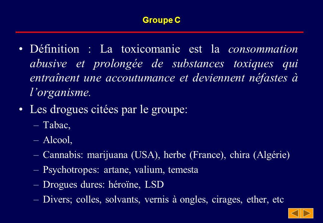 Définition : La toxicomanie est la consommation abusive et prolongée de substances toxiques qui entraînent une accoutumance et deviennent néfastes à l