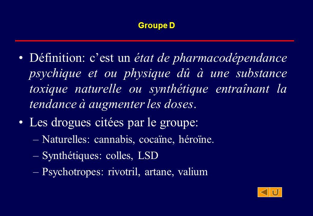 Définition: c'est un état de pharmacodépendance psychique et ou physique dû à une substance toxique naturelle ou synthétique entraînant la tendance à
