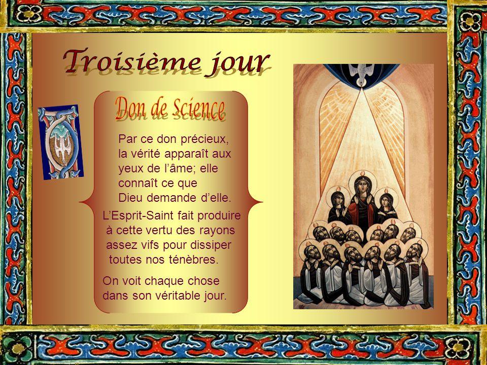 L'Esprit-Saint produit en l'homme le don de Piété, en lui inspirant un retour filial vers son Créateur. Le don de Piété est répandu dans nos âmes par