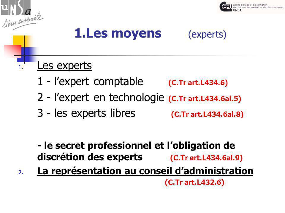 1.Les moyens (experts) 1.