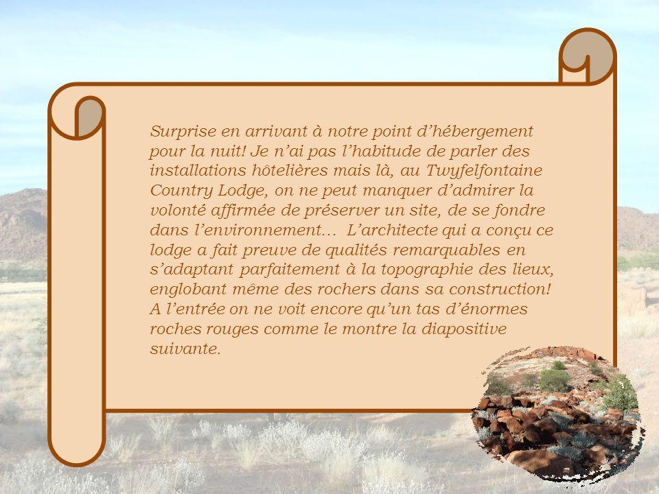 L'environnement devient ensuite de plus en plus rougeoyant : la roche contient une quantité importante d'oxyde de fer.