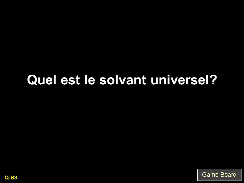 Quel est le solvant universel Q-B3