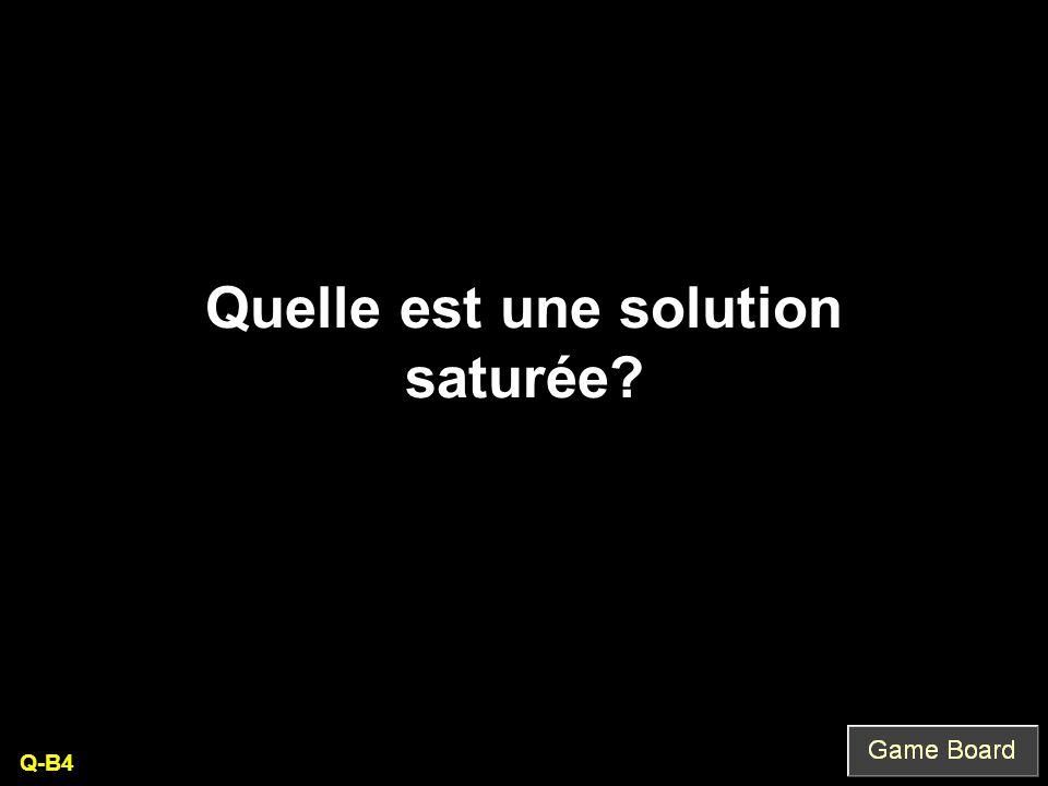 Quelle est une solution saturée Q-B4