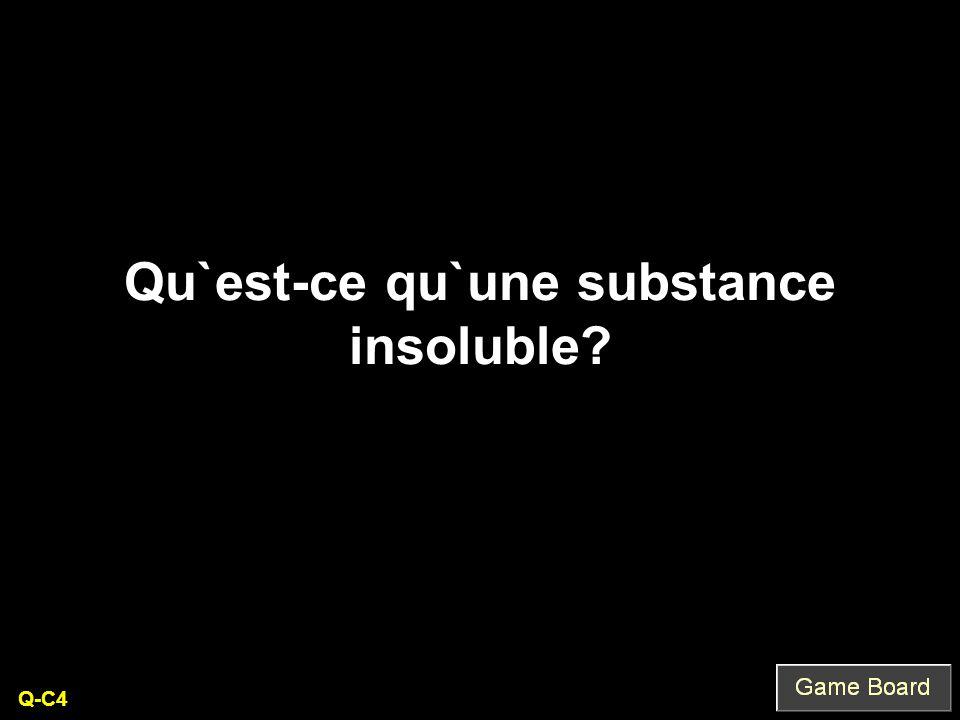 Qu`est-ce qu`une substance insoluble Q-C4