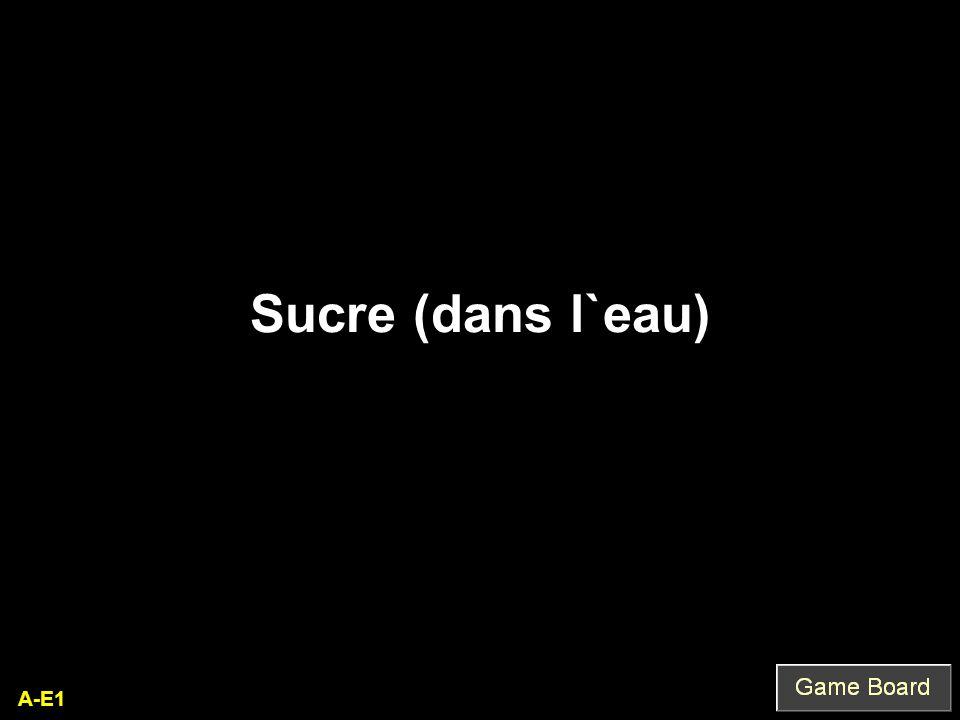 A-E1 Sucre (dans l`eau)