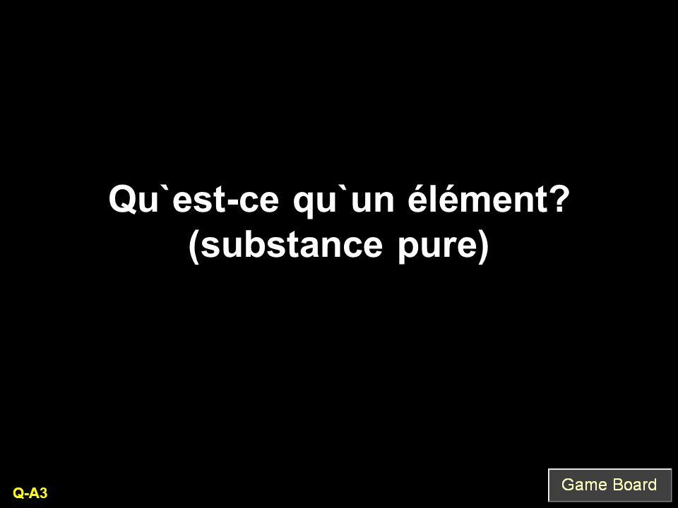 Qu`est-ce qu`un élément (substance pure) Q-A3