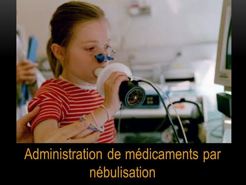 Administration de médicaments par nébulisation