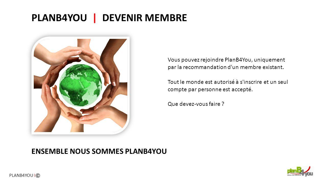 Vous pouvez rejoindre PlanB4You, uniquement par la recommandation d'un membre existant. Tout le monde est autorisé à s'inscrire et un seul compte par