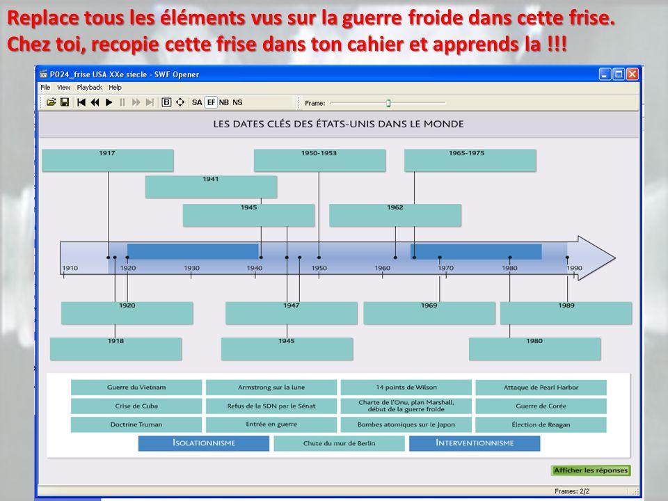 A l'aide de la carte interactive, complète le document distribué à rendre au professeur.