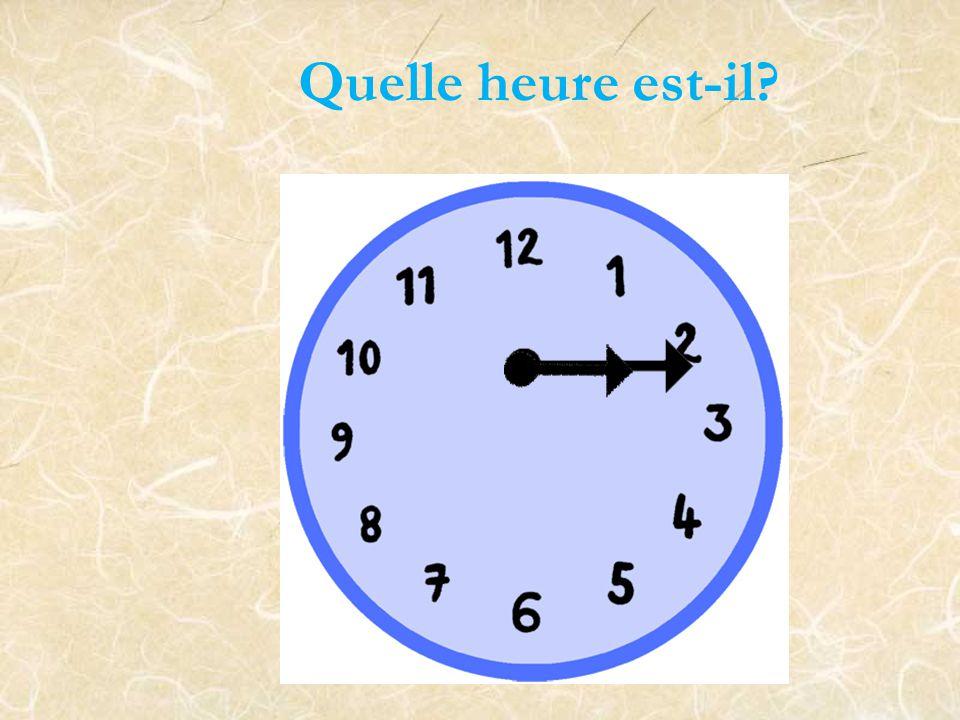 Il est deux heures de l'après-midi.