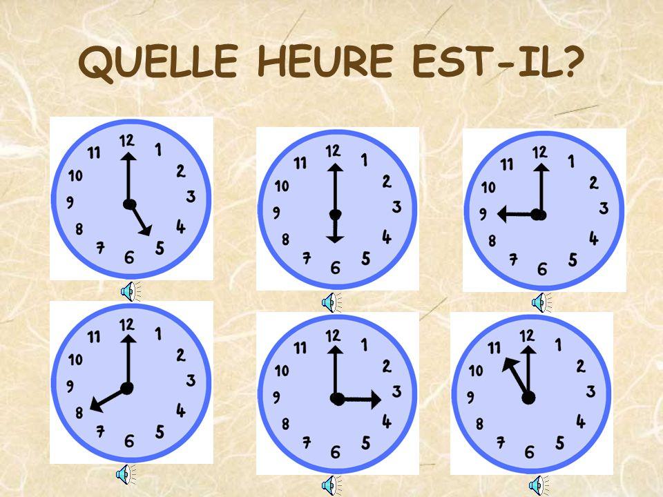 Il est quatre heures moins le quart Quelle heure est-il?