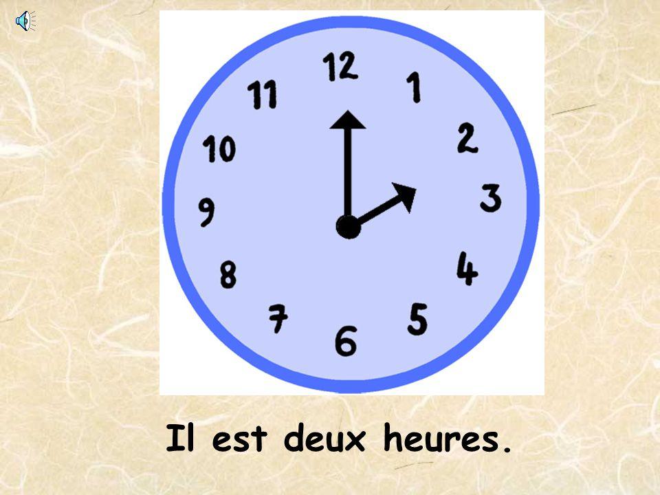 Il est quatre heures moins vingt-cinq Quelle heure est-il?