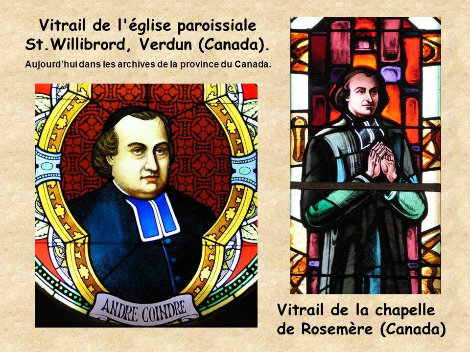 Vitrail de la chapelle de Rosemère (Canada) Vitrail de l'église paroissiale St.Willibrord, Verdun (Canada). Aujourd'hui dans les archives de la provin