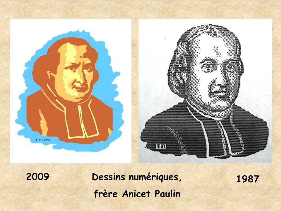 2009 1987 Dessins numériques, frère Anicet Paulin