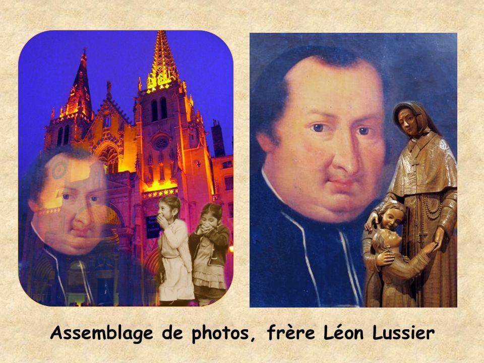 Assemblage de photos, frère Léon Lussier