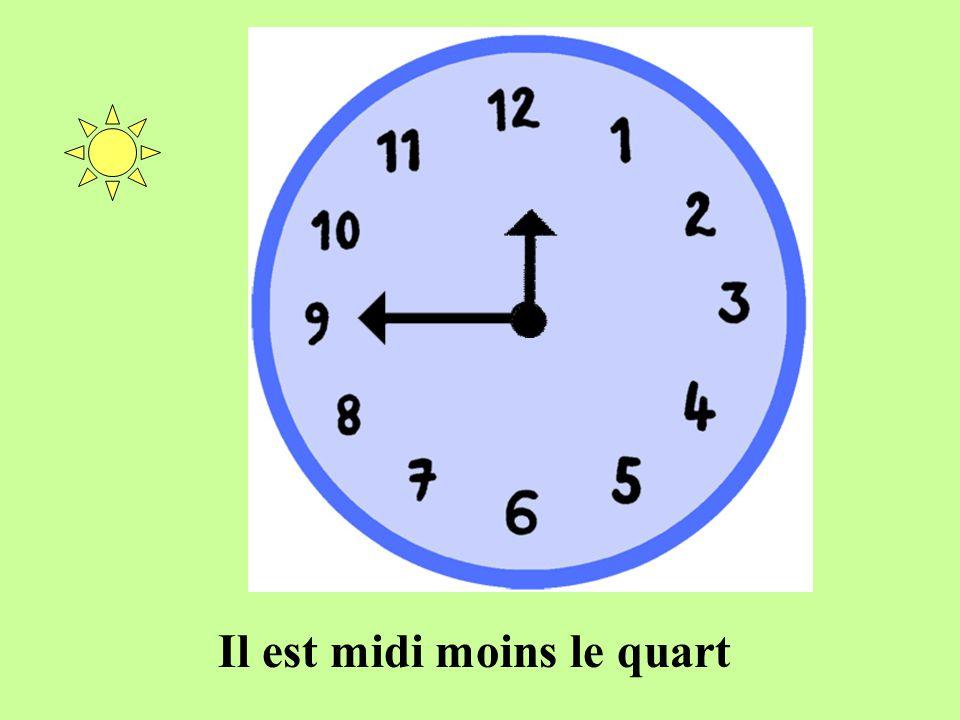 Il est huit heures moins le quart