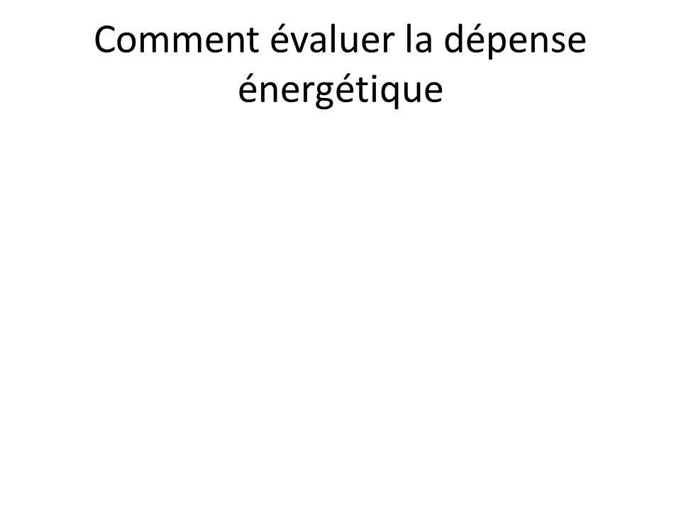 Comment évaluer la dépense énergétique