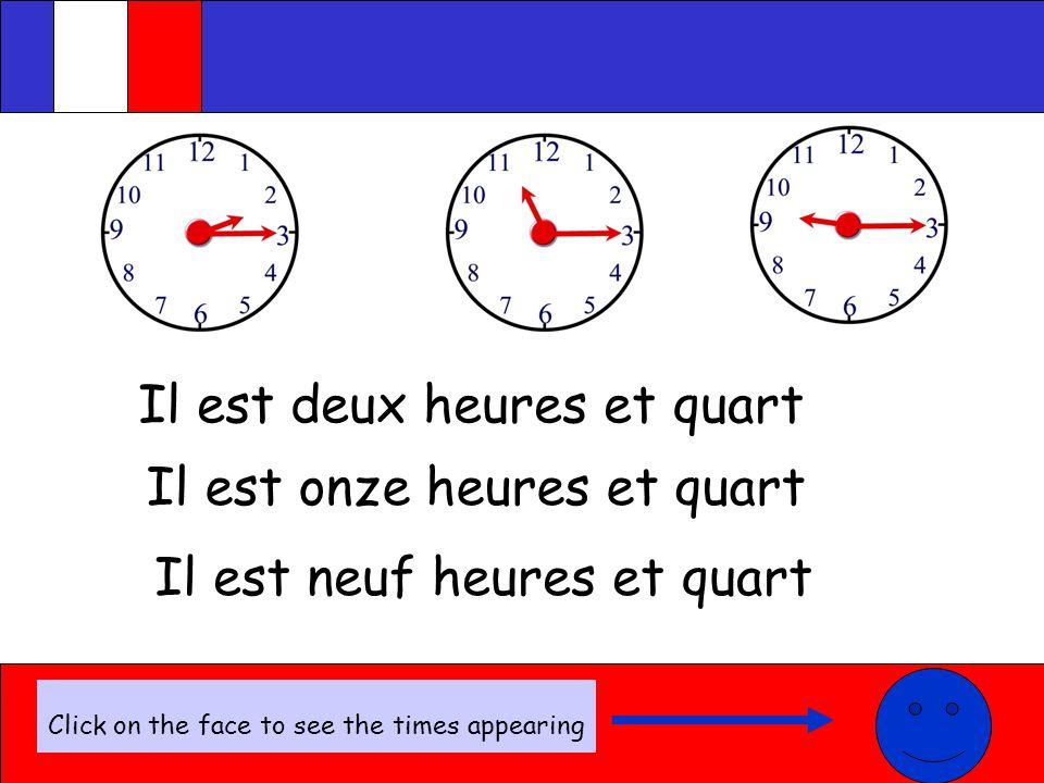 Quelle heure est-il.