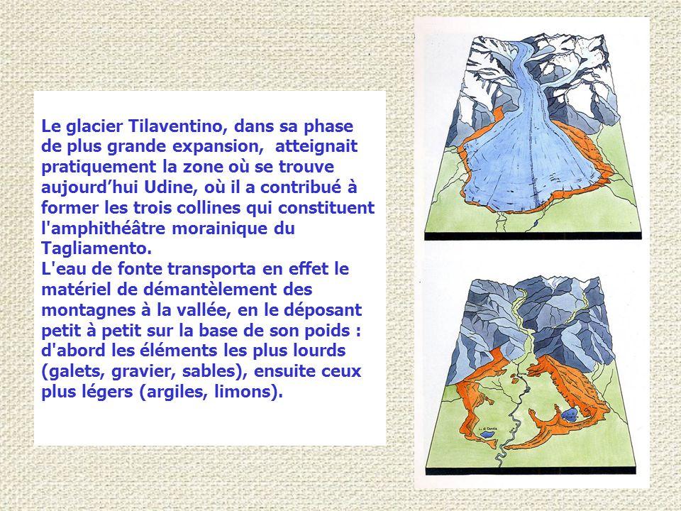 Dans l'ensemble elles ont une croissance semi-circulaire et concentrique, d'où le terme « amphithéâtre » attribué aux complexes morainiques terminaux.